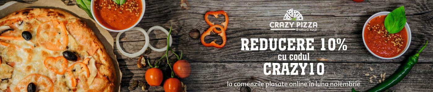 Promotie 10% Crazy Pizza Sibiu